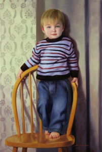 oil painting portrait of a boy