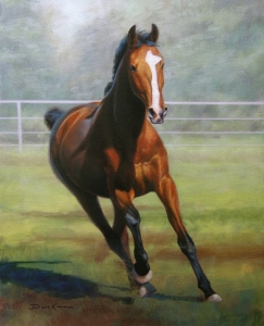 oil painting portrait of a horse