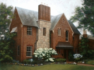 oil painting portrait of a house